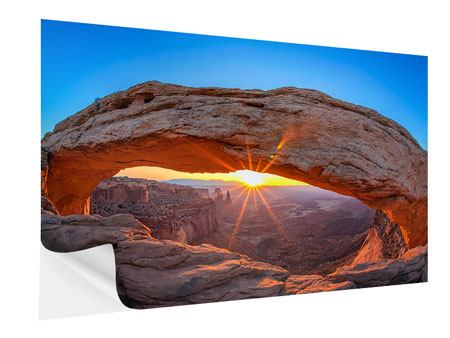 Self-Adhesive Poster Sunset At Mesa Arch
