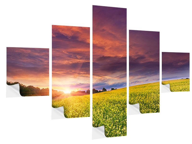 5 Piece Self-Adhesive Poster Twilight