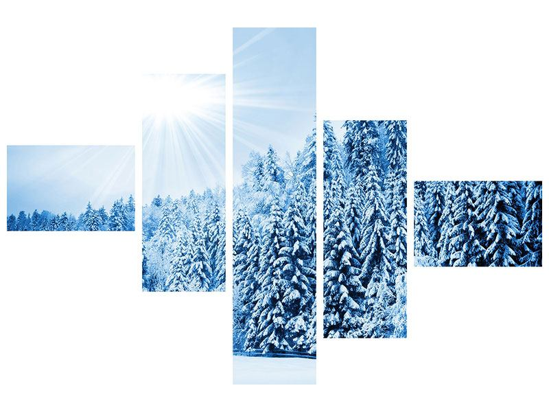 Modern 5 Piece Self-Adhesive Poster Winter Fairytale