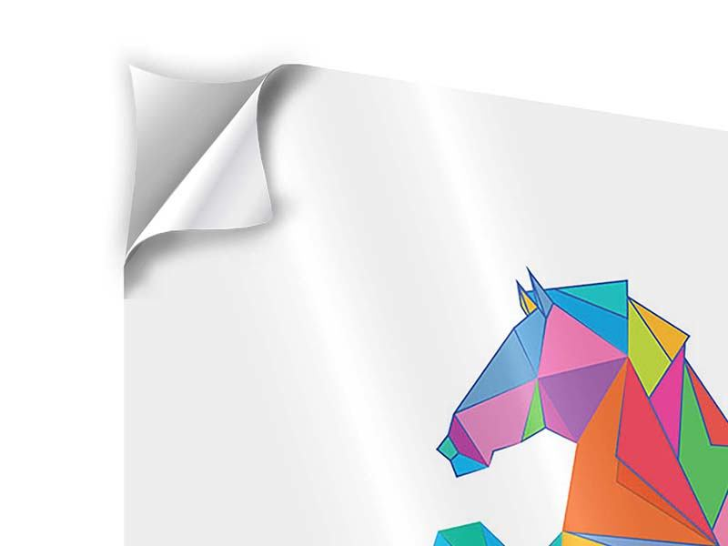9 Piece Self-Adhesive Poster Origami Horse