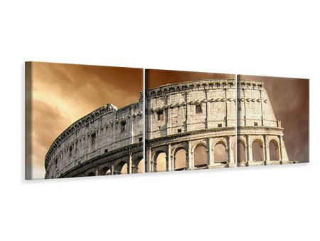 Panoramic 3 Piece Canvas Print Colosseum Rome