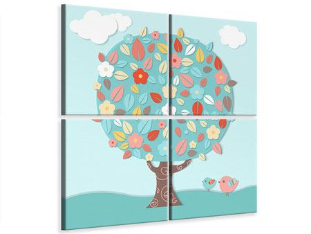 4 Piece Canvas Print The Nursery Tree