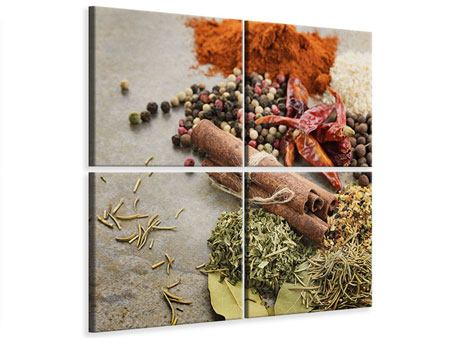 4 Piece Canvas Print Spices Of The South