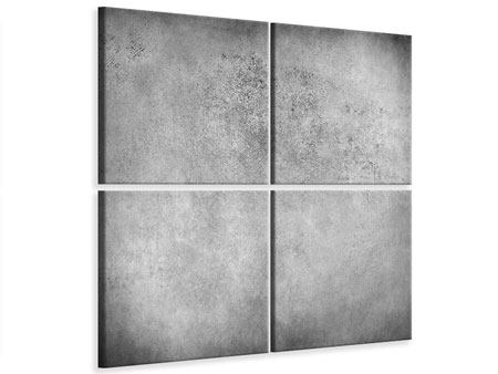 4 Piece Canvas Print Gray Wall Shades