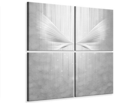 4 Piece Canvas Print Angel Wings