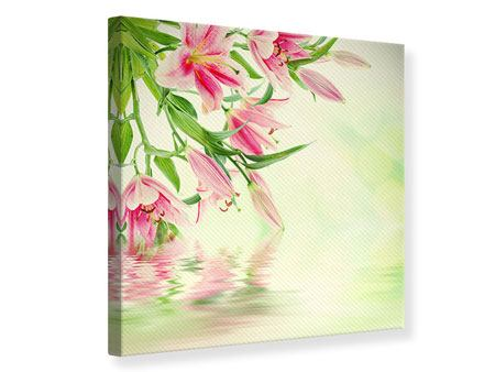 Canvas Print Lilies On Water