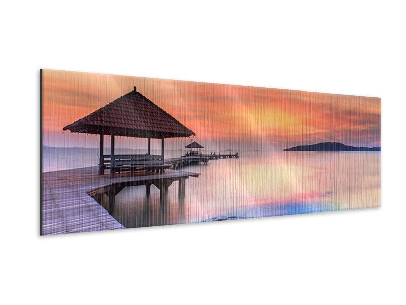 Panoramic Metallic Print Paradise Bridge