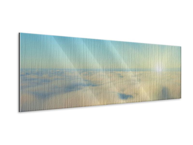 Panoramic Metallic Print Photo Wallaper Dawn Above The Clouds
