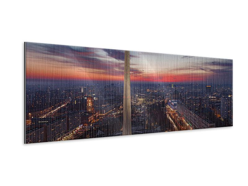Panoramic Metallic Print Berlin