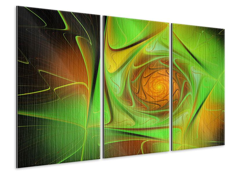 3 Piece Metallic Print Abstractions