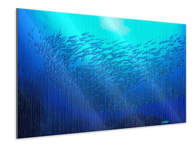 Metallic Print Fish World