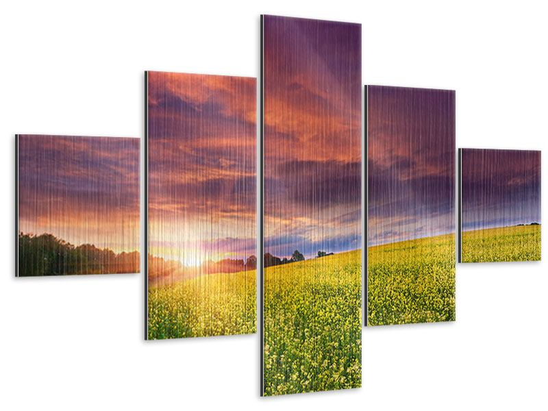 5 Piece Metallic Print Twilight