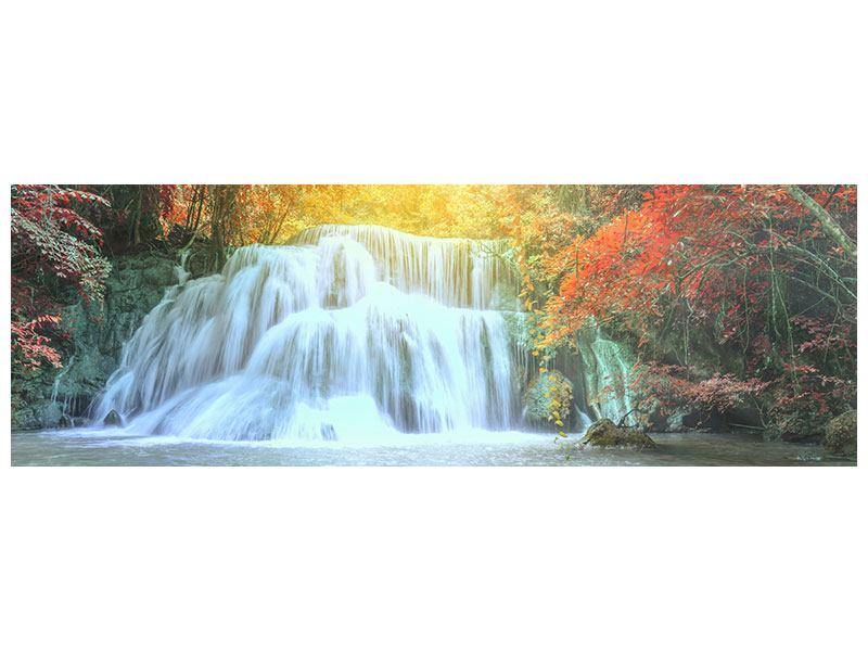 Panoramic Poster Waterfall In Light