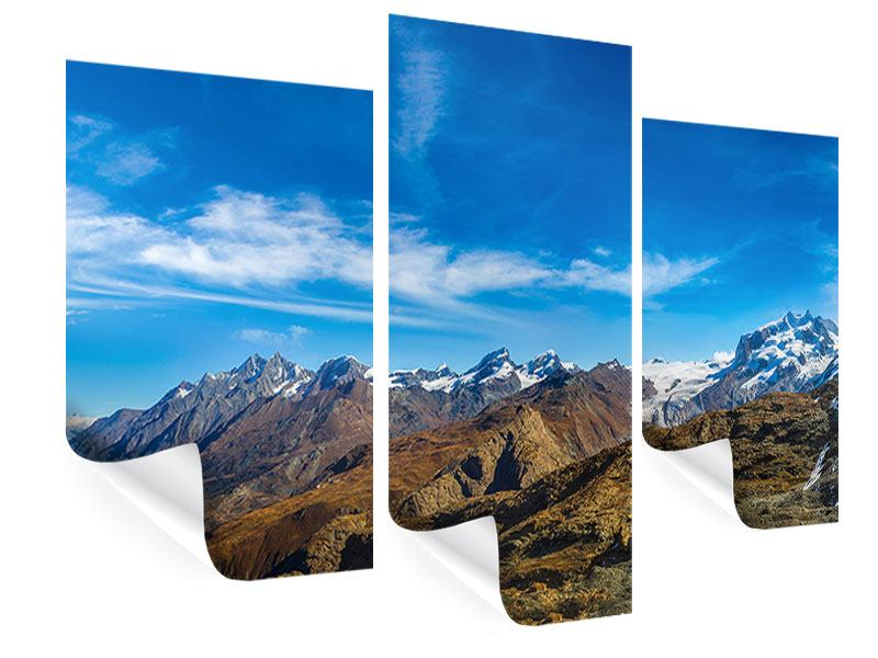 Modern 3 Piece Poster Swiss Alps In Spring