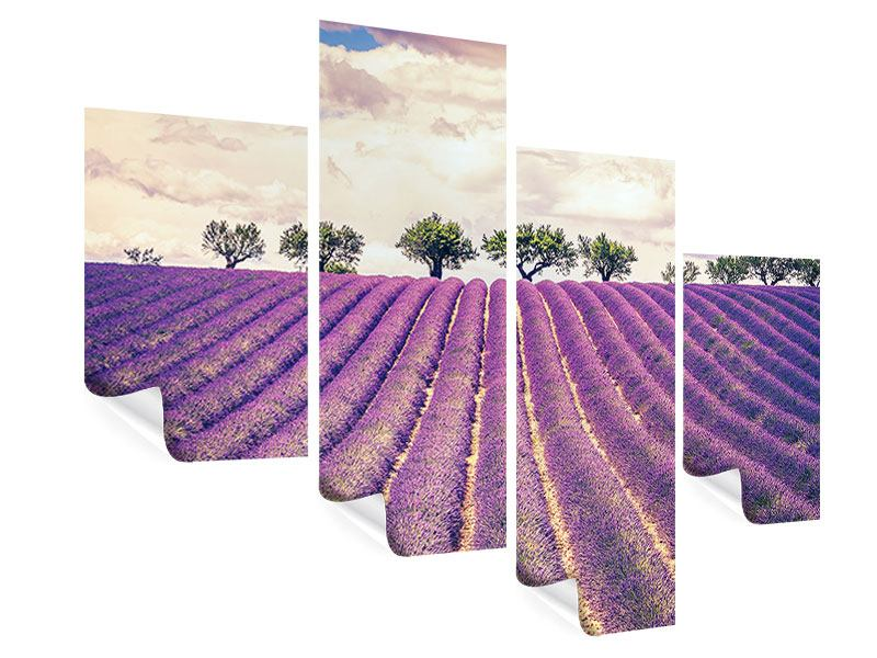 Modern 4 Piece Poster The Lavender Field