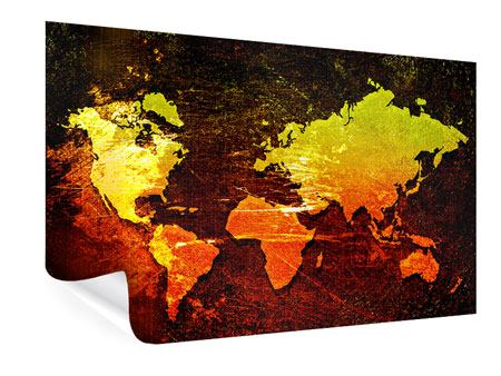 Poster Retro World Map