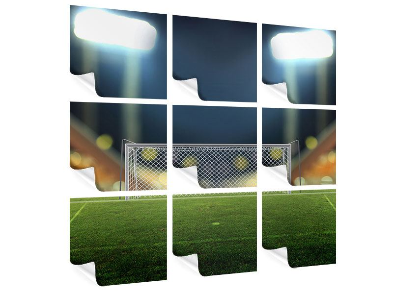 9 Piece Poster The Soccer Goal