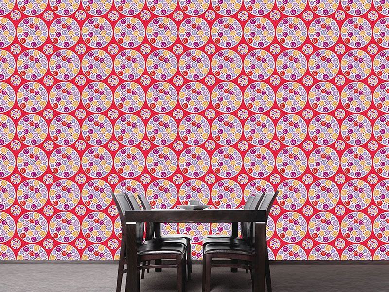 Design Wallpaper Flower Bouquet Red