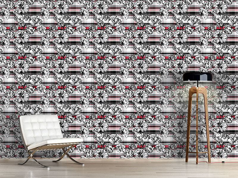 Papier peint design Scotish Rose Check