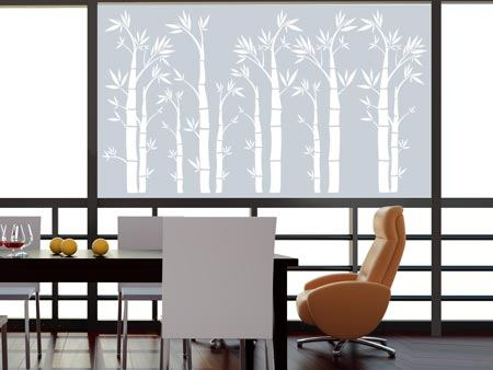 Window Foil bamboo forest