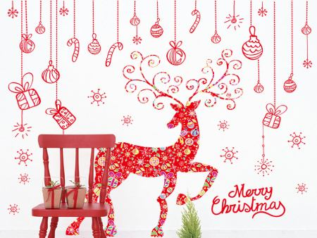 Wall Sticker Merry Christmas Elch