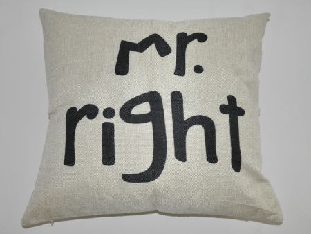 Cushion Cover Mr. Right