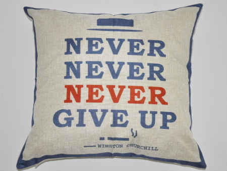 Cushion Cover Never Give Up