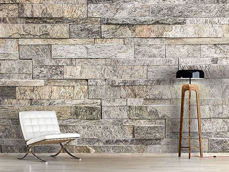 Photo Wallpaper Elegant Stone Wall