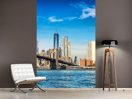 Photo Wallpaper New York Skyline And Brooklyn Bridge