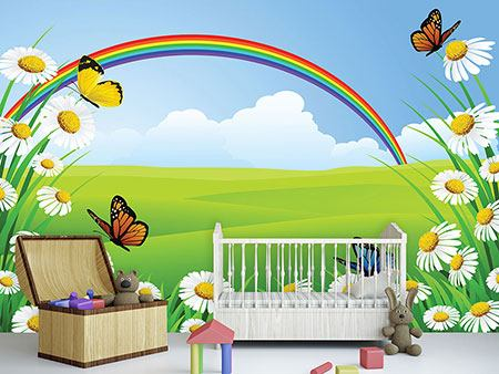 Photo Wallpaper The Colorful Rainbow